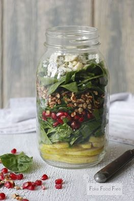 Pear, Blue Cheese & Walnut Salad Jar