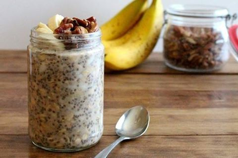 Banana Bread flavoured Overnight Oats