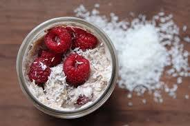 Raspberry & Coconut ‎Overnight‬ ‪oats‬